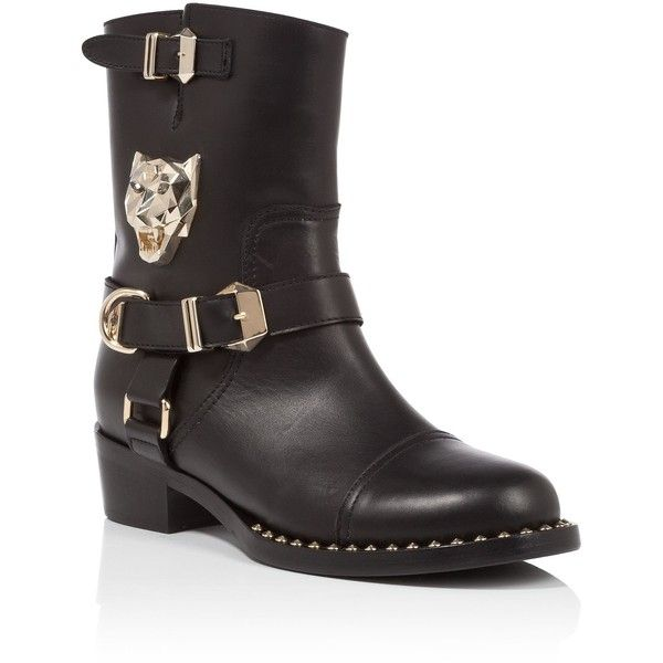 """PHILIPP PLEIN Boots """"Panthers"""" ($1,465) ❤ liked on Polyvore featuring shoes, boots, philipp plein shoes, philipp plein and philipp plein boots"""