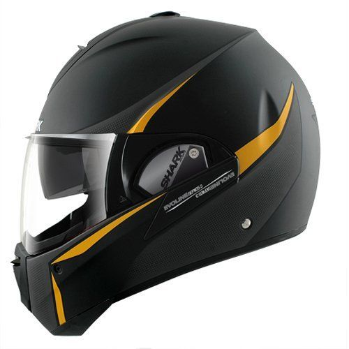 Shark Evoline Series 3 Century Matte Finish Helmet (Black/Orange, X-Large) by Shark,