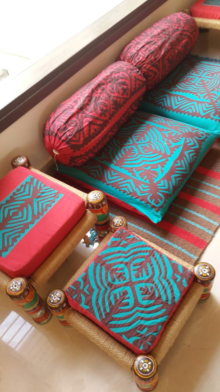 Floor cushions made by special order