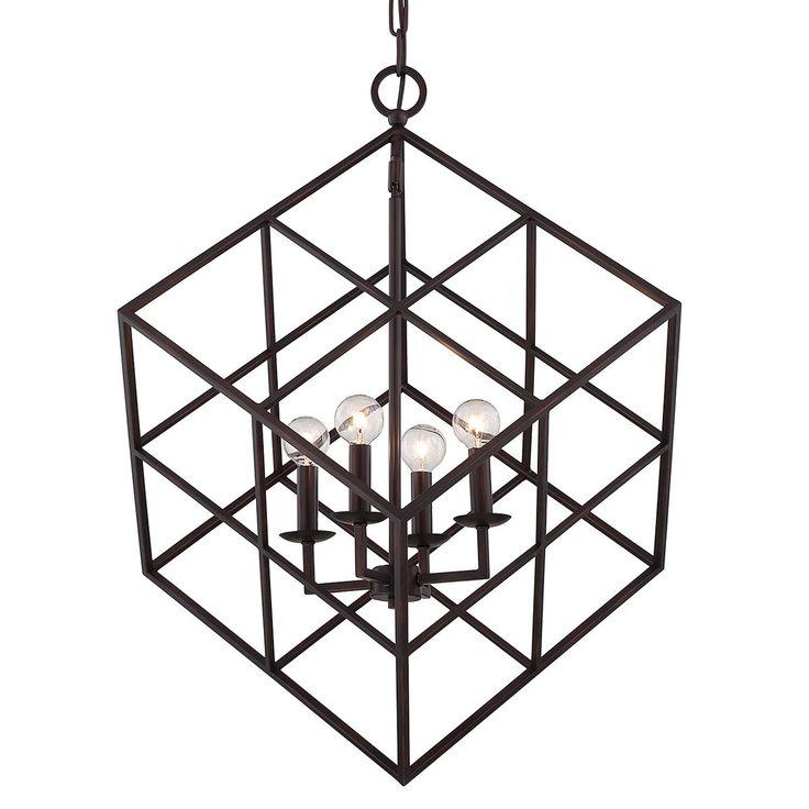 Modern Mid-Century Cube Pendant