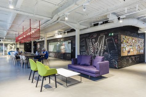 New Google Campus in Madrid Opens in Jump Studios–Renovated Battery Factory | Architectural Digest