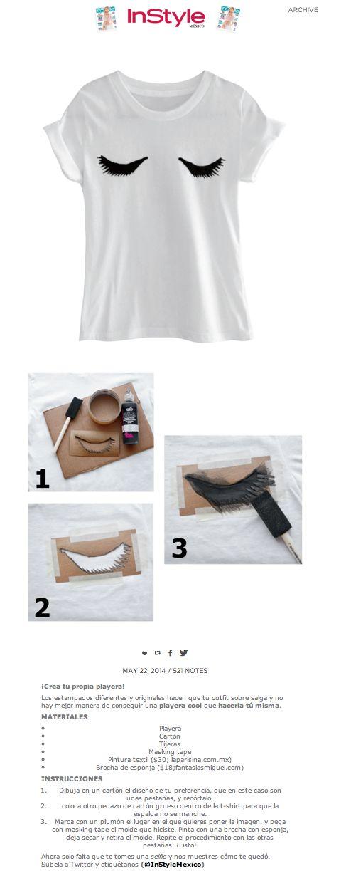 DIY Ideas: Lashed T-Shirt - Diseña tu propia camiseta con un dibujo personalizado — clo by clau!