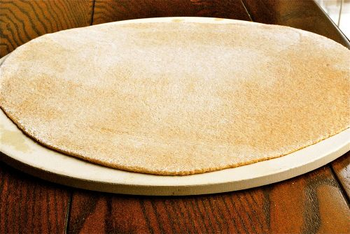 Breadmaker machine Honey whole wheat pizza dough. I have made this recipe several times now and it is delish and so easy to whip up in the bread machine!