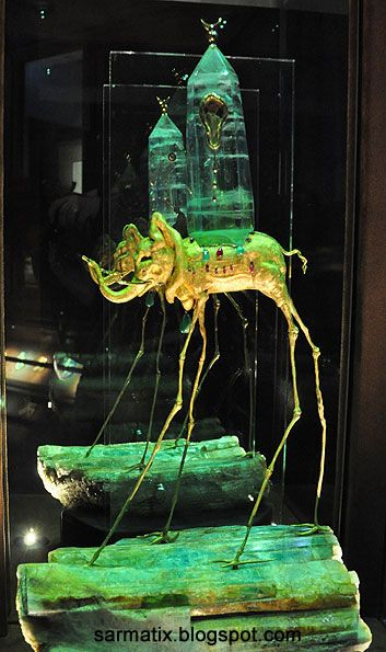 The Space Elephant - jewelry by Salvador Dali, Figueres, Spain.