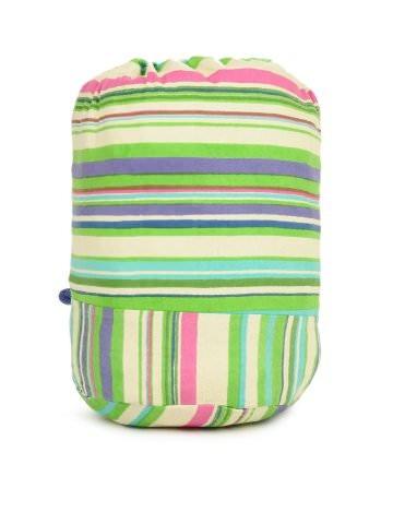 Kanvas Katha Women Green & Cream Drawstring Bag | Myntra via @myntra