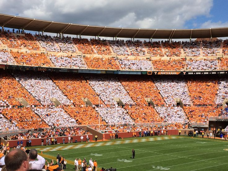 Tennessee vs Florida 2014 the first time ever to checkerboard Neyland stadium