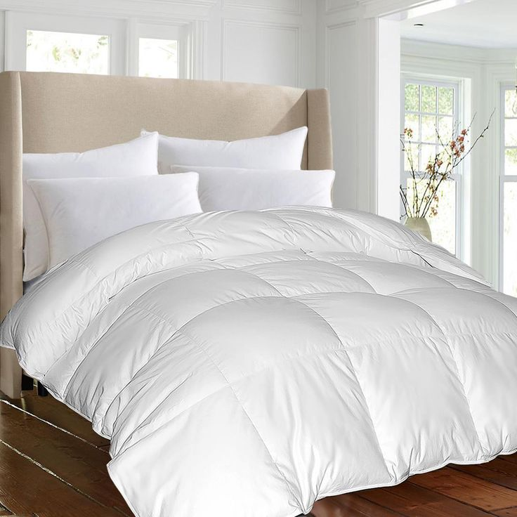 1000 TC Egyptian Cotton cover Down Alternative Comforter White