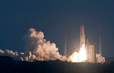 Индийский спутник связи GSAT-18 успешно запущен с космодрома Куру - ТАСС