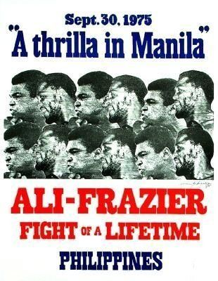 Nostalgic Treasures: #3 A RARE Original On-Site Poster from The Thrilla in Manila, 1975