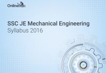 SSC JE Mechanical Engineering Syllabus 2016  #SSC #JuniorEngineer #SSCJE