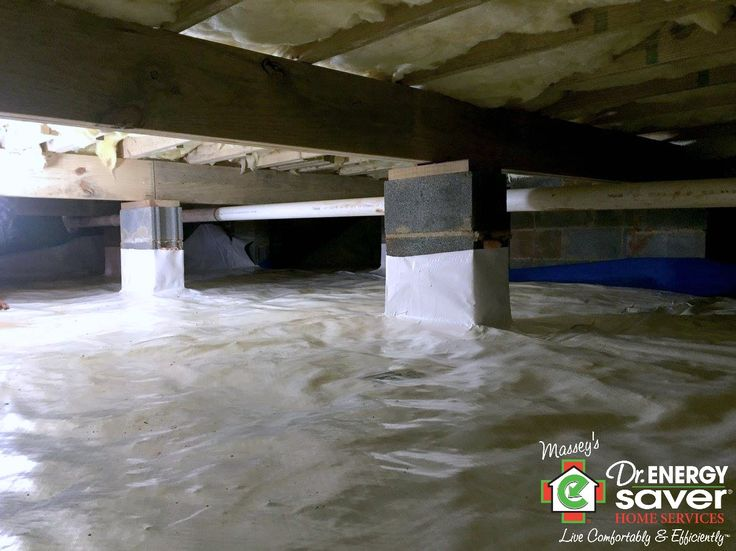 Local crawl space after full encapsulation. Here you see