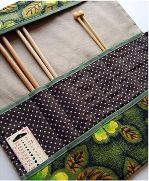 Umbrella Knitting Needle Case | AllFreeKnitting.com - someone please make this for me! We could work out a trade: )