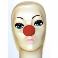 """Red Foam Clown Noses (1 5/8"""") from Clownantics.com. We proudly stock 1 5/8 inch Red Foam Clown Noses from Magic by Gosh. Each non-latex foam clown nose comes split and ready to be hollowed out for a comfortable fit.  Foam Noses may not stay on for an active clown show, but they make great handouts for group photos or just fun. You can also adhere sponge noses with light adhesives, such as spirit gum, liquid latex, or double stick tape. See our complete line of Adhesives and Removers, too!"""