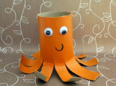 Loo roll octopus #crafts #craftsforkids
