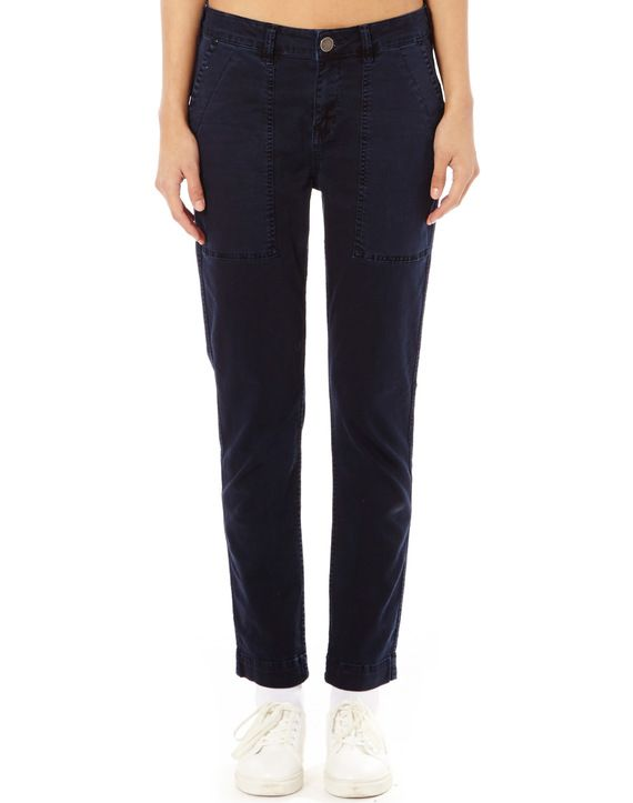 Cotton Blend Utility Pants