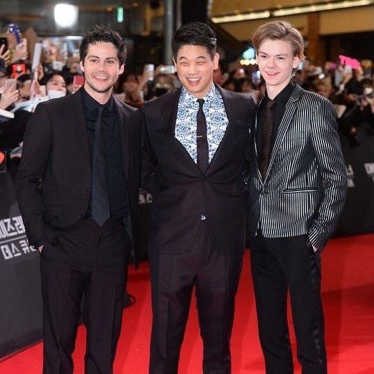 """New: Dylan, Ki Hong and Thomas at The Death Cure Premiere in South Korea."""""""