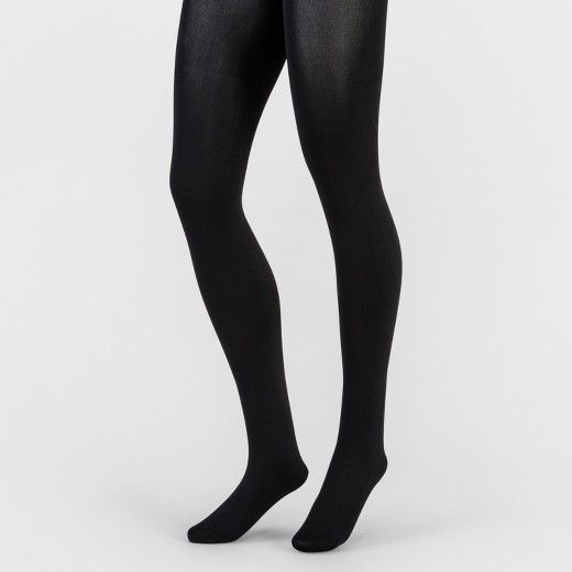 Yummie by Heather Thomson Women/'s Footless Opaque Tights 2-Pack