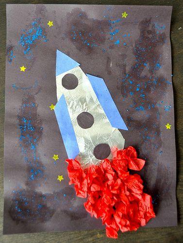 raket knutselen platte vlak