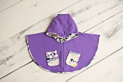 Children's Poncho - 'Purple Splish Splash'
