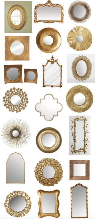 Favorite gold mirrors