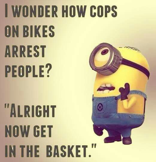 Listen... My dads a cop and he's on bike.... It's called getting back up and them taking them to jail