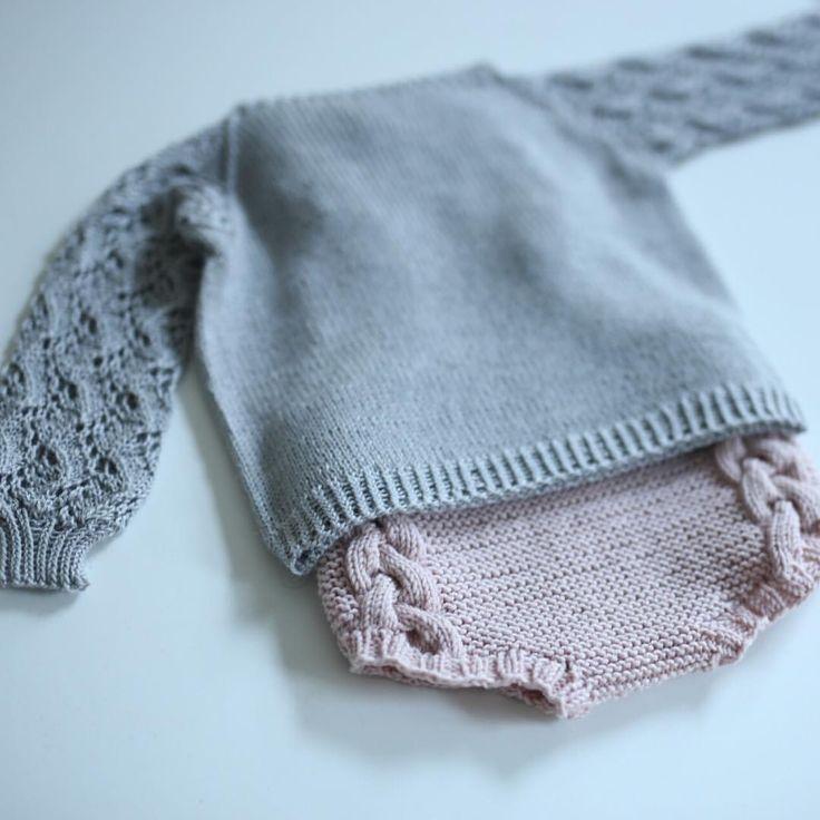 ...og litt strikkespam. Selv om jeg er fan av tykt garn som strikkes raskt, vil jeg likevel slå et slag for florlette strikkegensere i tynn silkeullblanding, kjempefine å ha over bodyen eller tskjorta uten at det blir for varmt. #strikktilbarn #barnestrikkfrapaelas #paelas #instaknit #knitstagram #sandnesgarn