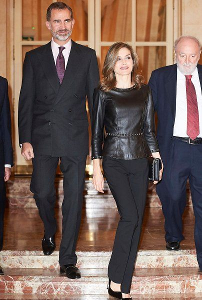 King Felipe VI and Queen Letizia of Spain attended the 33rd Francisco Cerecedo Journalist Award ceremony held at the Ritz Hotel on November 10, 2016 in Madrid in Madrid, Spain.