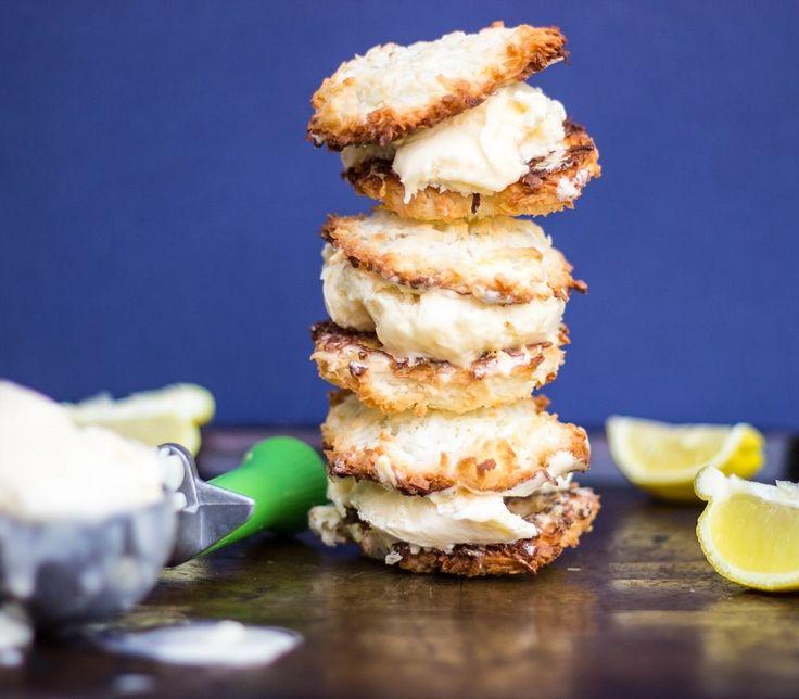 Lemon Macaroon Ice Cream Sandwiches (GF)