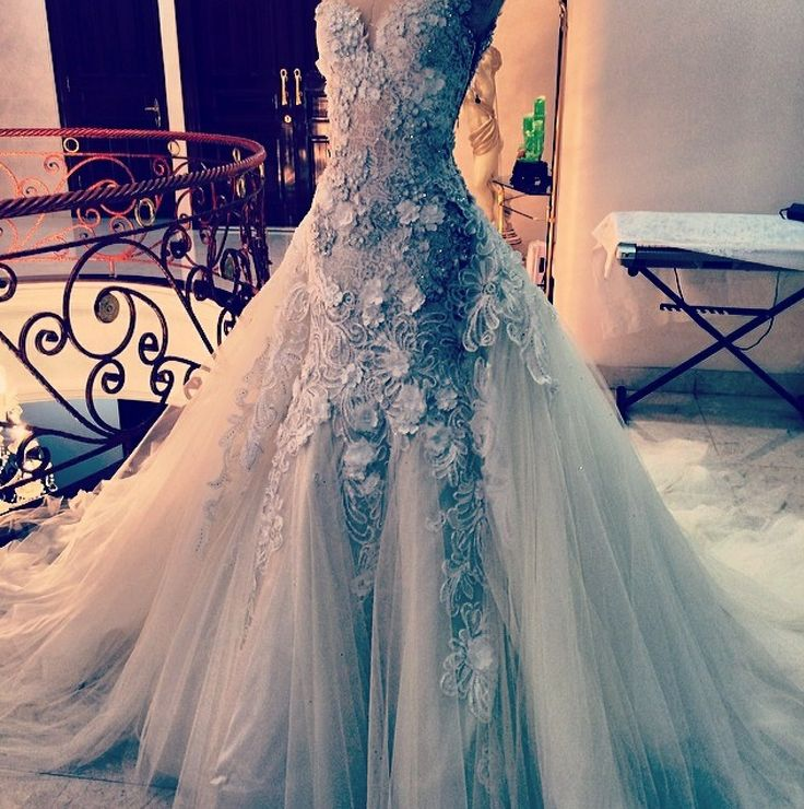 Lace and tulle