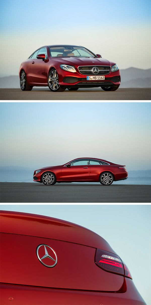 Red Devil: The Mercedes-Benz E-Class Coupé combines automotive personality with esprit.