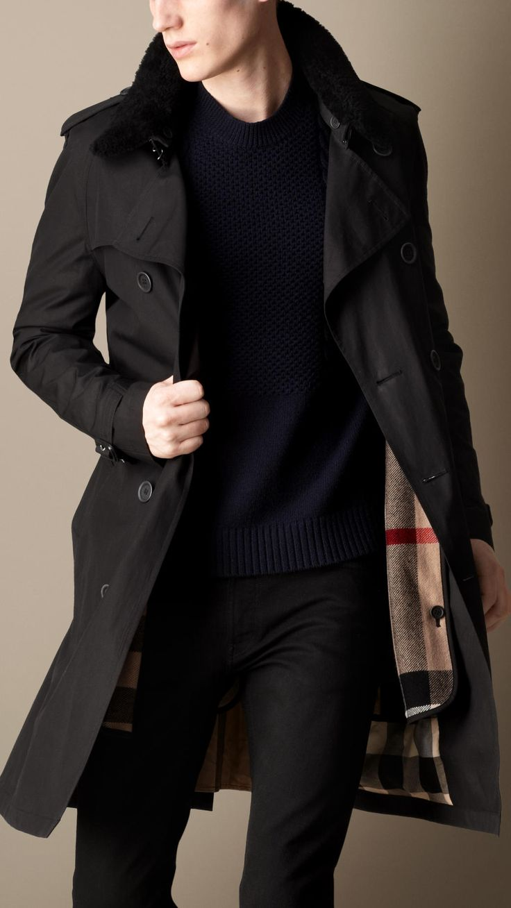 Ben's outfit for the evening of the dance will include this Burberry coat, as well as Armani dress boots.