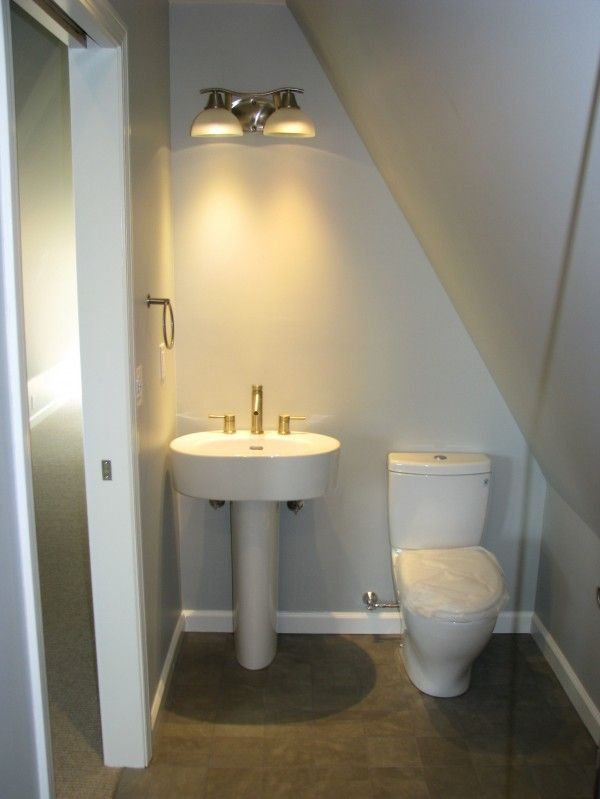 Top 25 ideas about attic bedroom with bathroom on - Small half bathroom layout ...
