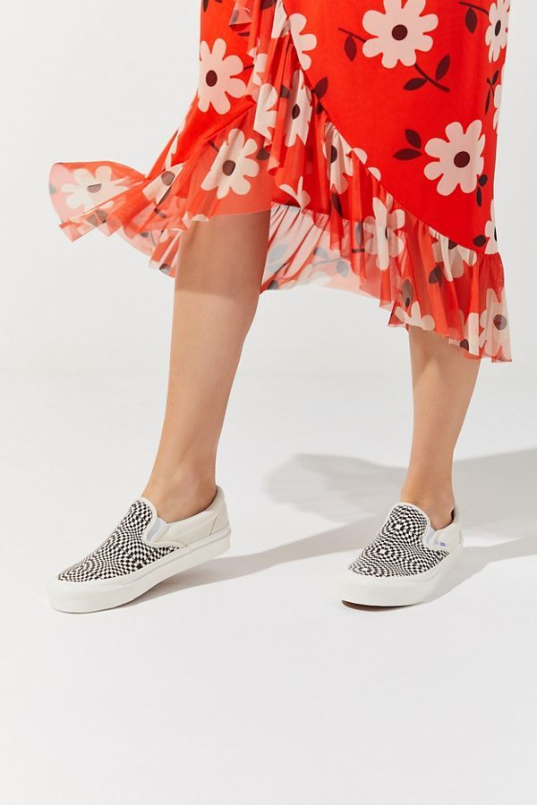 a436c2a960 Vans Anaheim Factory 98 DX Warped Checkerboard Slip-On Sneaker | Urban  Outfitters