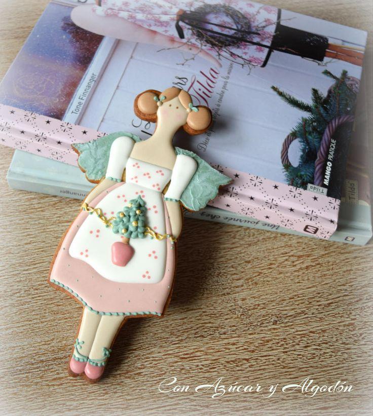Cookie Angel... Inspirado en el maravilloso mundo Tilda   Cookie Connection