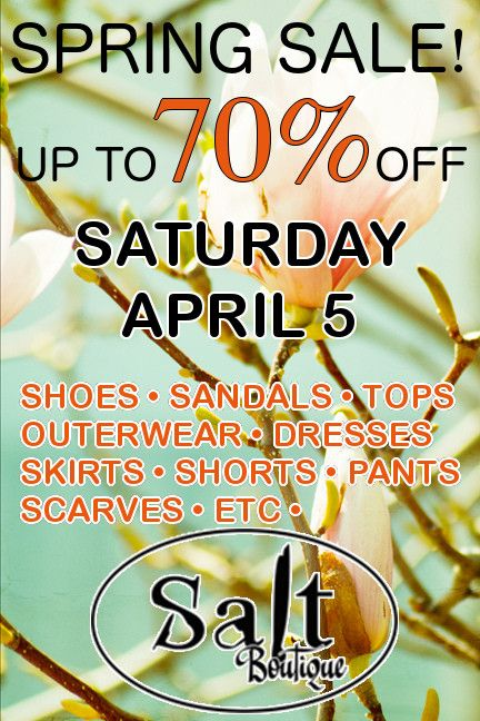 Who doesn't love a Spring sale !?