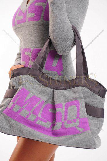Geanta MissQ Modern Lines Purple