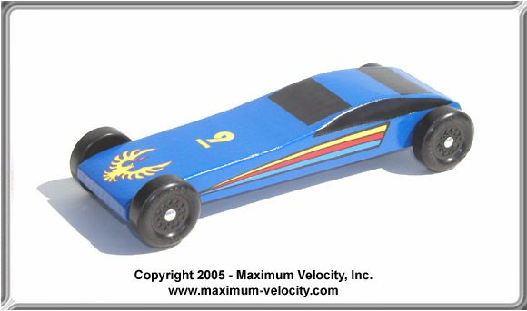 Sports Car Pinewood Derby Car Kit - Complete