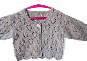 Knitted berry bobble--free pattern for adorable child's cardigan