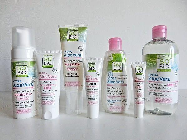 J Ai Teste La Gamme Hydra Aloe Vera De So Bio Etic Cosmetique