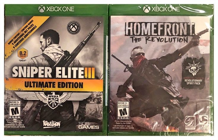 Homefront The Revolution and Sniper Elite III Ultimate Edition Xbox One Sealed: $71.00 End Date: Saturday Apr-7-2018 15:50:10 PDT Buy It…