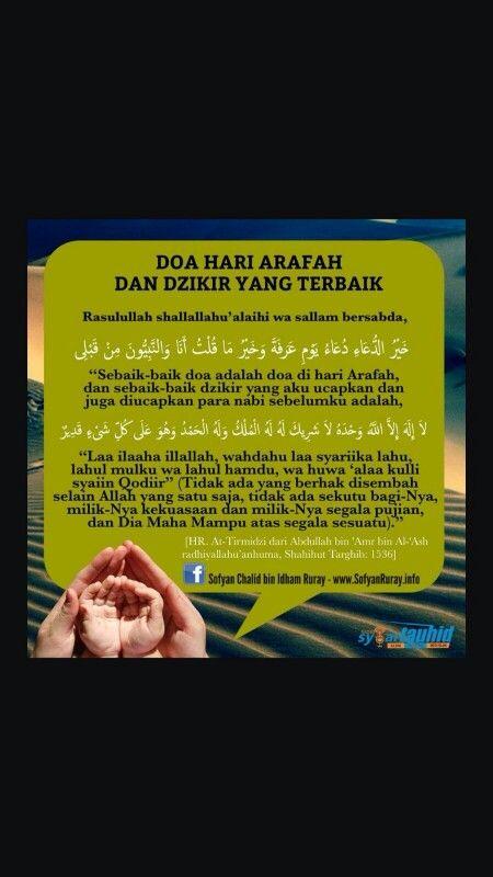 Doa Hari Arafah & Dzikir Yang Terbaik