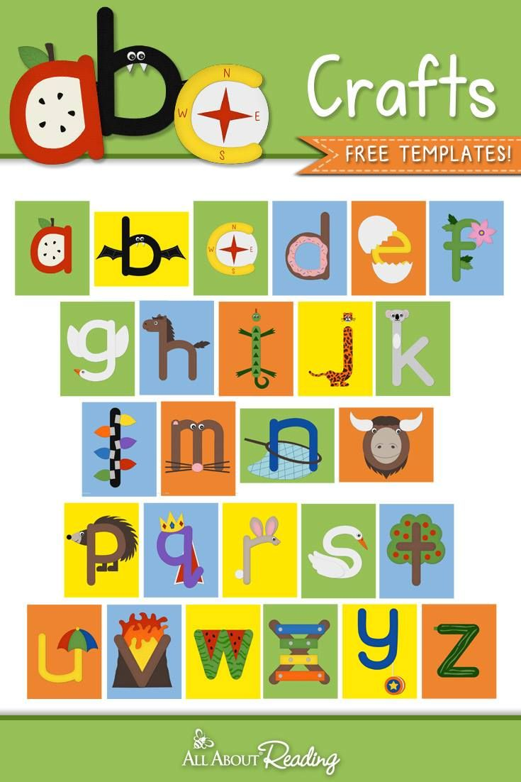 ABC Crafts   Lowercase Letters   All About Learning Press [Free ...