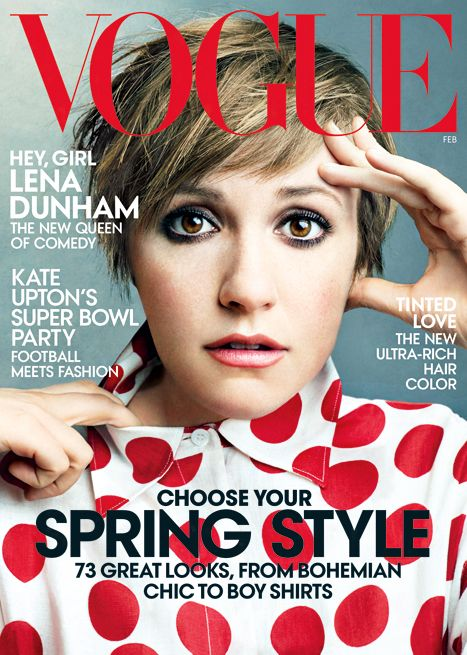 Cover Girl! Lena Dunham is the face of Vogue's February Issue