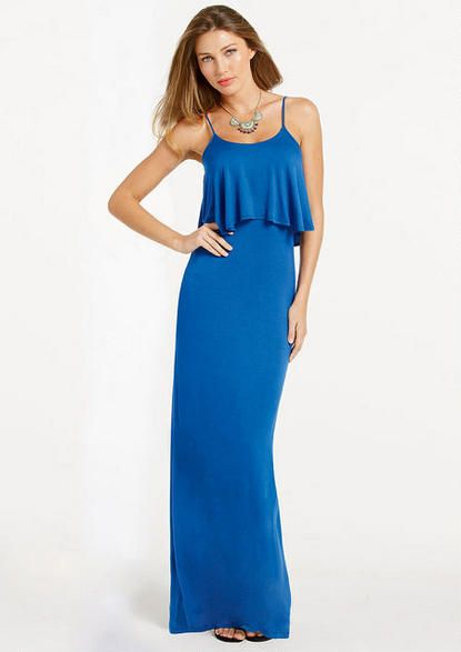 Jayne Knit Maxi Dress Extended Length - Dresses - Tall Shop ...