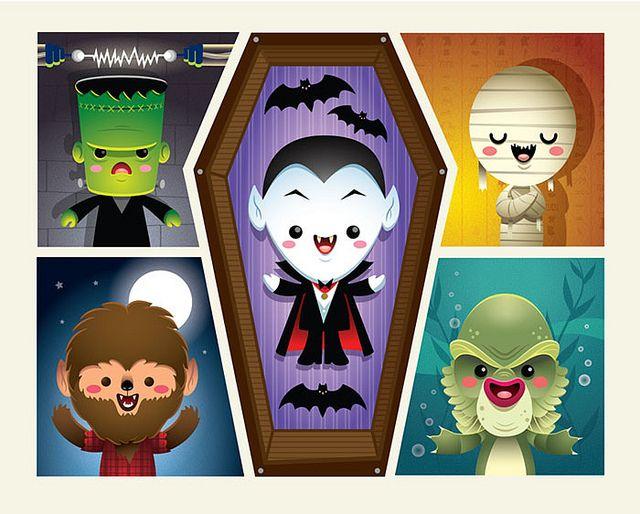 Kawaii Monsters -Limted Edition Print by Jerrod Maruyama, via Flickr