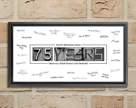 75th Birthday Gift Decorations 75 Year Old Ideas Poster