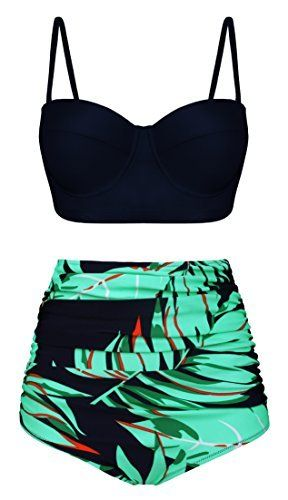 67fb308442 Angerella Women Vintage Polka Dot High Waisted Bathing Suits Bikini  Angerella (2308) Buy new   49.99 -  59.99  9.99 -  29.99 (Visit the Best  Sellers in ...