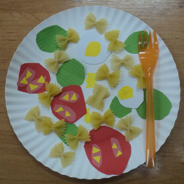 Zdravá strava - těstovinový salát se zeleninou