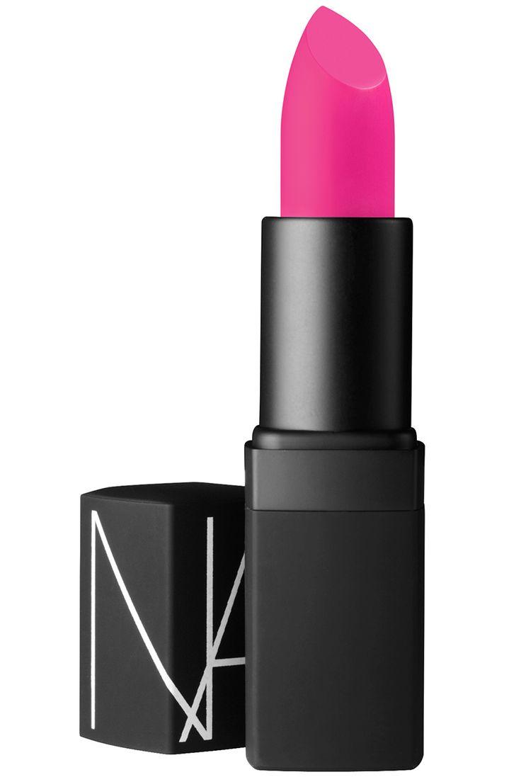 Named after designer Elsa Schiaparelli, this is quite possibly the most shocking pink around.  NARS Semi Matte Lipstick in Schiap, $27, narscosmetics.com.   - HarpersBAZAAR.com