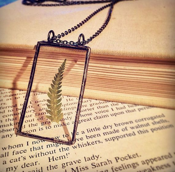 RESERVED STEPH: Preserved Fern Real Flower Necklace by AmarBhuee